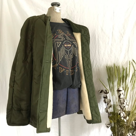 Vintage | 60s | Green | Wool Lining  | Quilted | A