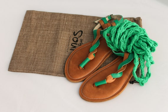style chain in Unique up lace green sandals summer wZ4fYq