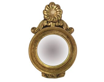 Small Giltwood Convex Mirror