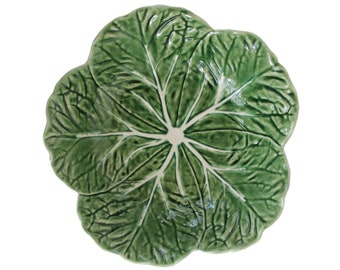 Green Cabbage Leaf Bowl by Bordallo Pinheiro