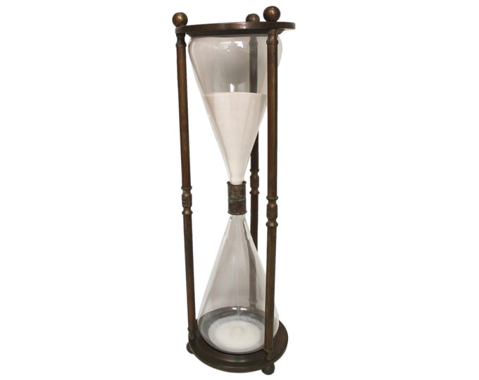 "Featured listing image: Large Vintage Brass 26"" Hourglass"