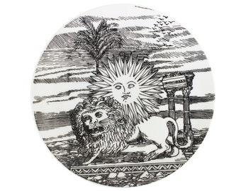 "Porcelain Plate ""12 Mesi 12 Soli"" by Piero Fornasetti"