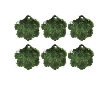 Set of Six Hand Painted Italian Oak Leaf VIETRI Plates