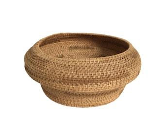 Vintage Twined Basket