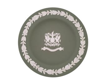 "Green Jasperware Wedgwood ""City of London"" Pin Dish"