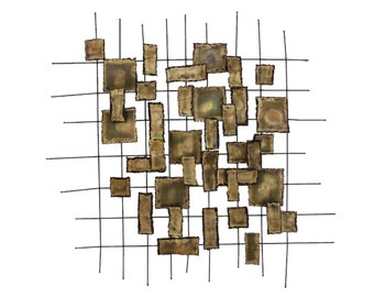 Brutalist Metal Wall Sculpture