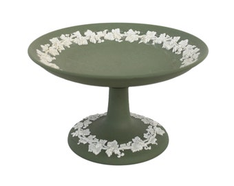 Green Jasperware Wedgwood Compote
