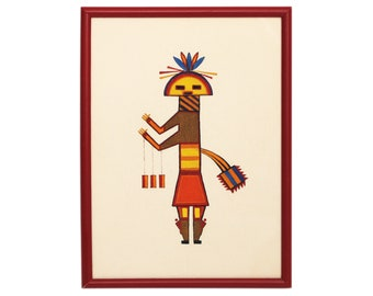 Watercolor on Paper of Native American Hopi Kachina