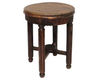Antique Chinese Wood Stool / Side Table