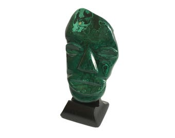 Malachite Mask Sculpture