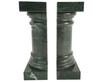 Green Marble Column Bookends