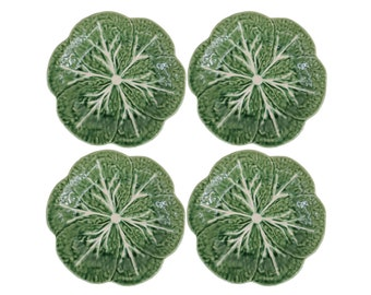 "Set of Four 9"" Cabbage Plates"