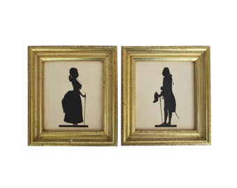 Pair of Framed Borghese Silhouettes