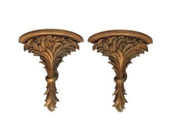 Pair of Gilt Wall Brackets