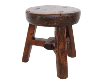 Small Vintage  Wood Stool