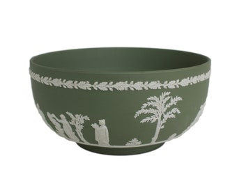 Green Jasperware Wedgwood Bowl