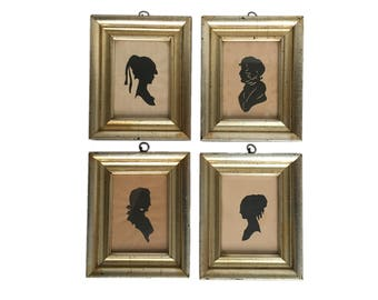 Set of Four Antique Silhouettes
