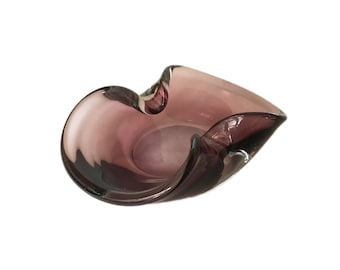 Amethyst Color Murano Glass Ashtray
