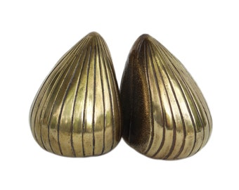 Ben Seibel Jenfred-Ware Brass Clam Bookends, USA 1950s