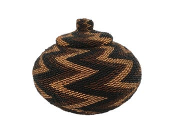 Hand Beaded Indonesian Basket