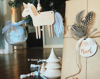 Unicorn Tassel Ornament