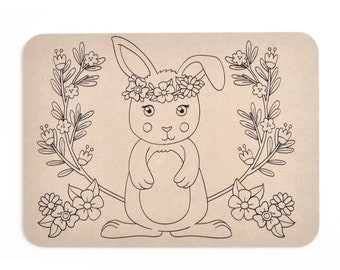 Playdough Boards | Mat | Rabbit