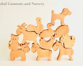 Farm Animals, 11 piece Set