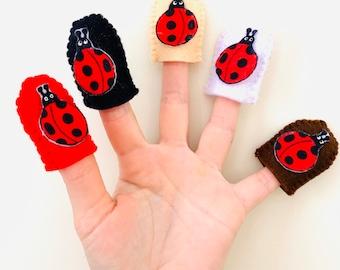 Felt Ladybugs ~ Finger Puppets