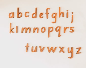A - Z Lowercase Print Wooden Letters