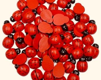 Wooden Ladybirds | Ladybugs | NO sticker