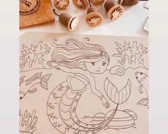 Playdough Boards | Mat | Mermaid