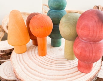 Hand Dyed Wooden Trees- Handmade / Christmas | Small World