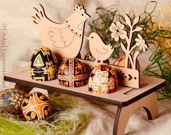 Wooden Easter Egg Holder| Stand