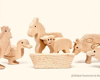 Farm Animals, 8 piece Set ~ Farm Domestic Animals | Scandi style