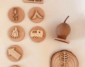 Gumnut Nature Stamps | Camping Set