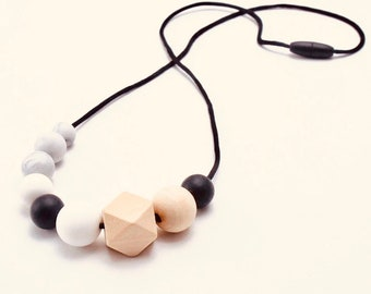 The Aspen Necklace | Silicone & Wooden Beads