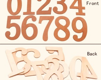 Large 0-9 Wooden Numbers, set of 10