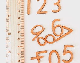 0-24 Print Wooden Numbers | 39 pieces