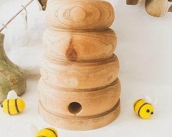 Medium Natural Wooden Bee Hive | HANDMADE