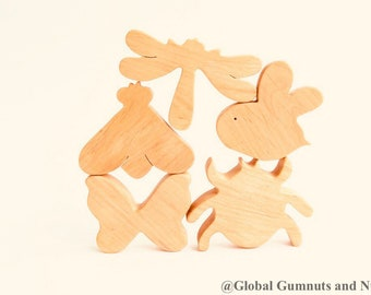 Wooden Insects | Animals, 5 piece Set