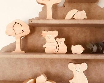 Wooden Australian Koala 13 Piece Puzzle Set