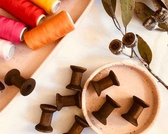 Bobbin Spools, Wooden - Dark | Loose Parts | Threading