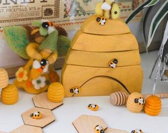 Discs ~ Wooden Hexagonal Tiles | Honeycomb Shapes 4 x 4cm