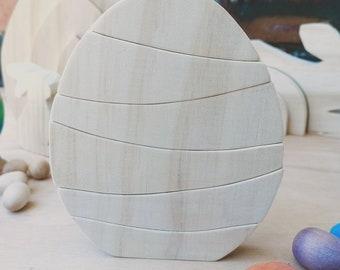 Natural Egg Wooden Stacker