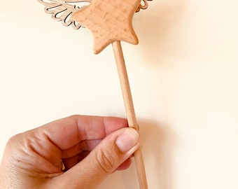 Wooden Whimsical Star Wands | Fairy | Party Favour