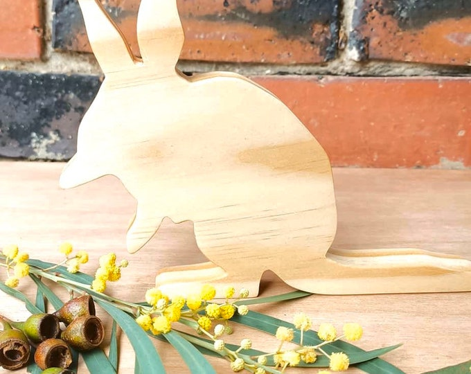 Featured listing image: Australian Wooden Bilby Animal