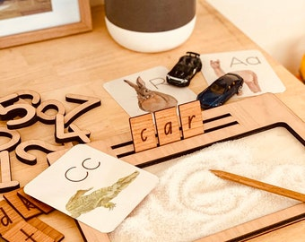 Sand Writing Tray & Wooden Pencil