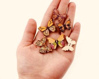 Colorful Wooden Butterflies | 10 pieces