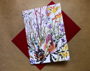 Art Card~ Wildflowers of the Swan Coastal Plain t of Western Australia