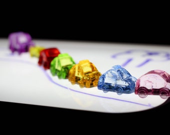 Cars ~ Crystal Light Table Cars | Taxis | Set of 5